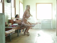 Reverse cowgirl bench humping milf Kelly Madison