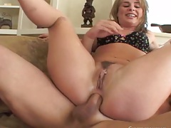 Anal trimmed pussy reverse cowgirl with Isabel Ice in rough threesome