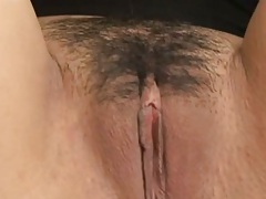 Hairy pussy asian spreading for camera