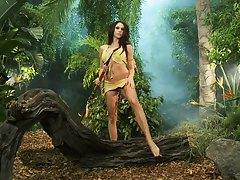 Chanel is alone in teh jungle