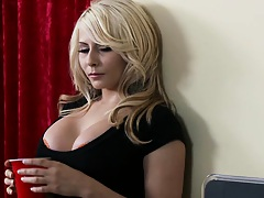 Sexy blonde Madison is a blonde at school