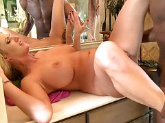 Cheating blonde busty wife Zoey Holiday gets filled full of huge black cock