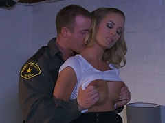 Big tits Nicole Aniston seducing a police officer
