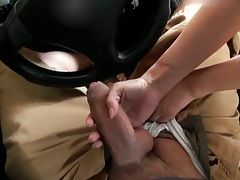 Handjob and blowjob from Caprice in the car outdoors